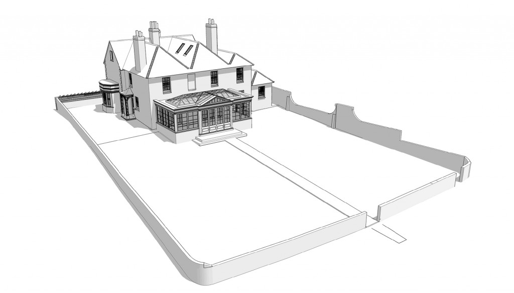 sketchup, listed building