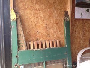 Plumpton Pit Stop door taken apart