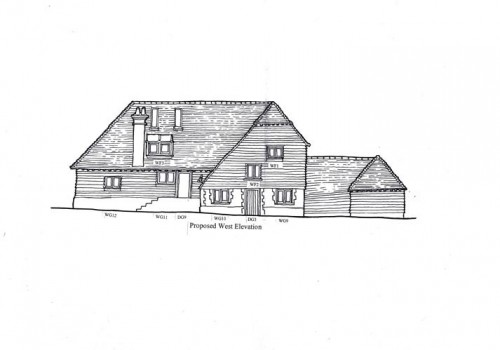 Headley Mill Barn - Proposed West Elevation