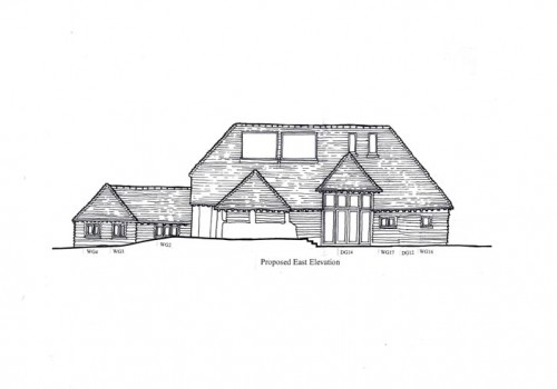 Headley Mill Barn - Proposed East Elevation