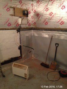 Plumpton Pit Stop damp proof membrane